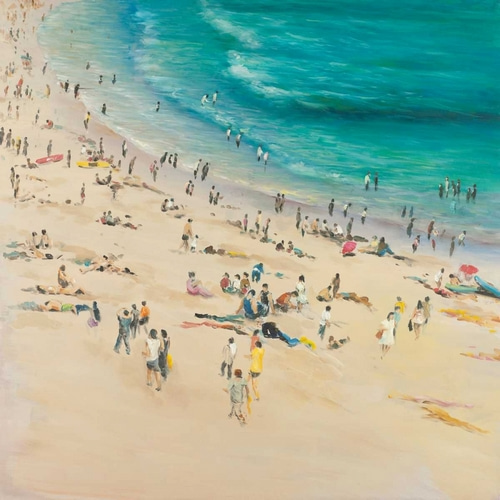 Summer Crowds at the Beach