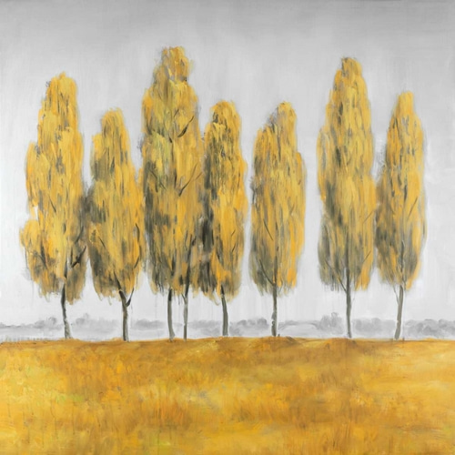 Abstract Yellow Trees