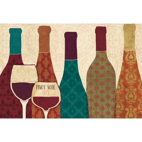 Wine Collage I with Glassware