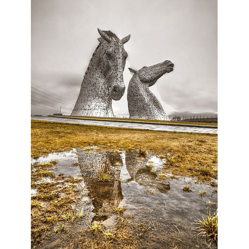 The kelpies horse statue at the Helix park in Falkirk -Scotland