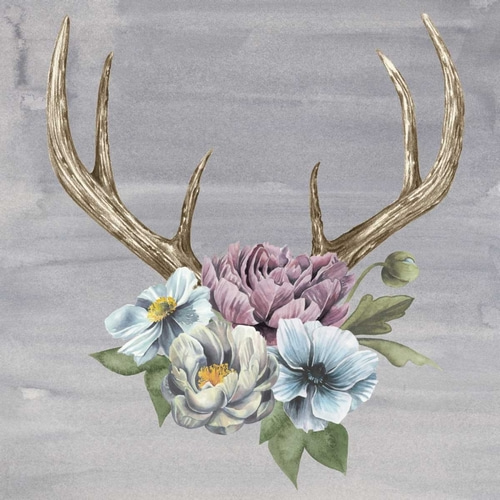 Antlers and Flowers II