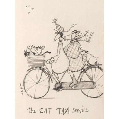 The Cat Taxi Service Sketch