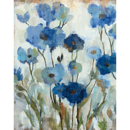 Abstracted Floral in Blue II